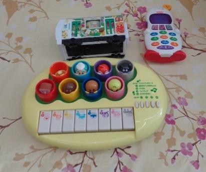 送料無料 アンパンマン おもちゃ まとめて 0歳 3ヵ月 1歳 1歳半  中古 しまじろう フィッシャープライス がちゃがちゃ等_画像4