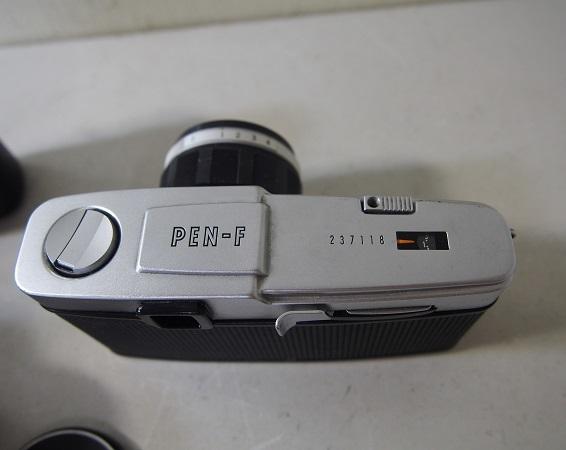 OLYMPUSオリンパス PEN-F ボディ+レンズ2個 中古ジャンク品_画像5