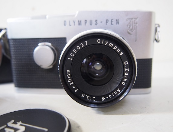 OLYMPUSオリンパス PEN-F ボディ+レンズ2個 中古ジャンク品_画像3