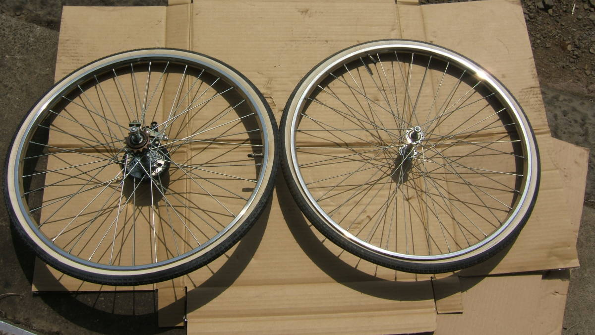 714b National Bicycle Wheel Good Rom And Rear Before And After