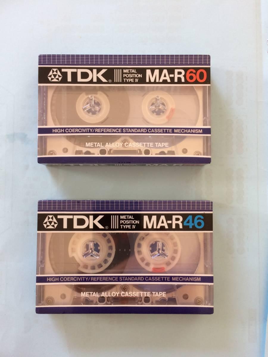 送料無料 未開封 2本セット TDK メタルカセットテープ MA-R60 、MA-R46 METAL POSITION TYPE Ⅳ
