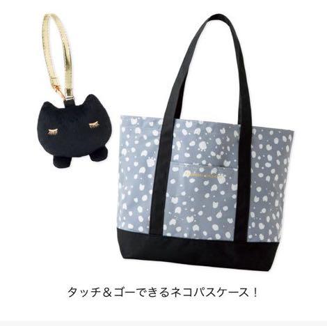 aa2a11bb6a17 ツモリチサト TSUMORI CHISATO ネコ柄トートバッグ&パスケース☆
