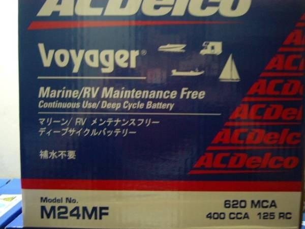 「◎1個12,000円~ ACデルコ ディープサイクル バッテリー M24MF ボイジャー..」の画像1