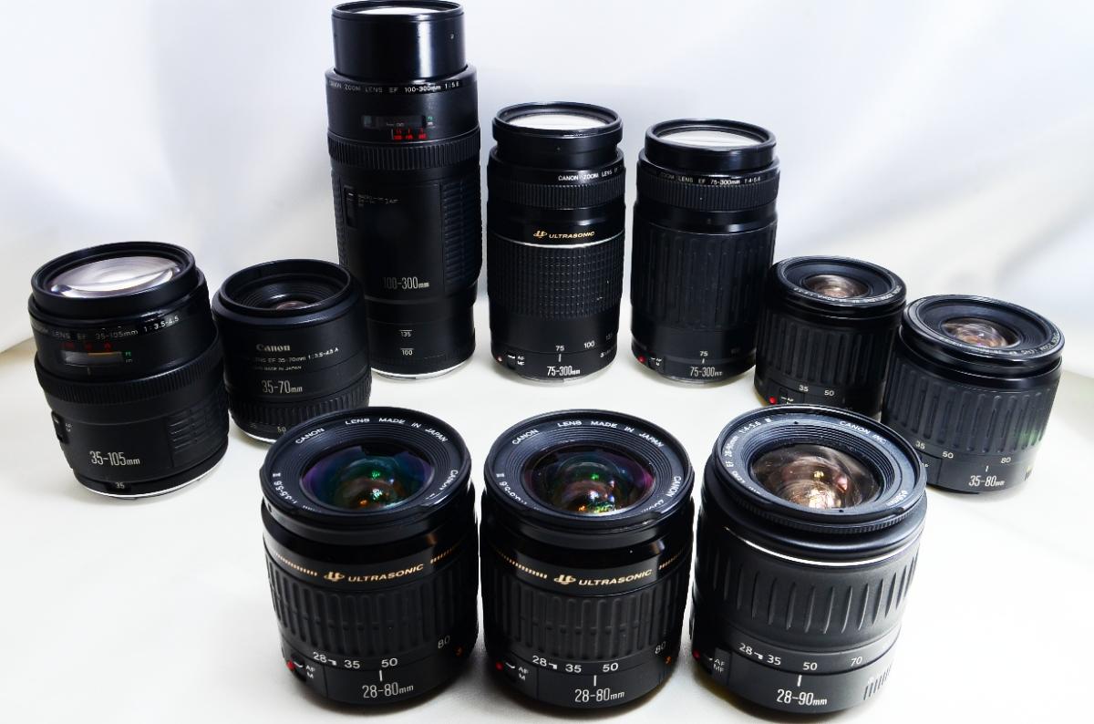 Canon キヤノン EF 標準 望遠レンズ 10本まとめて