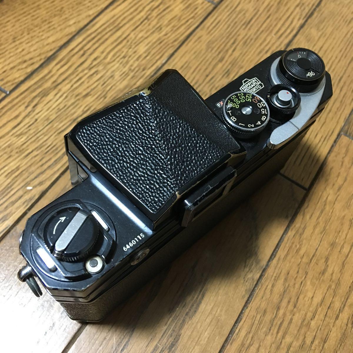 Nikon F アイレベル ブラック ボディ 646万台 前期型 動作確認済みです。_画像10