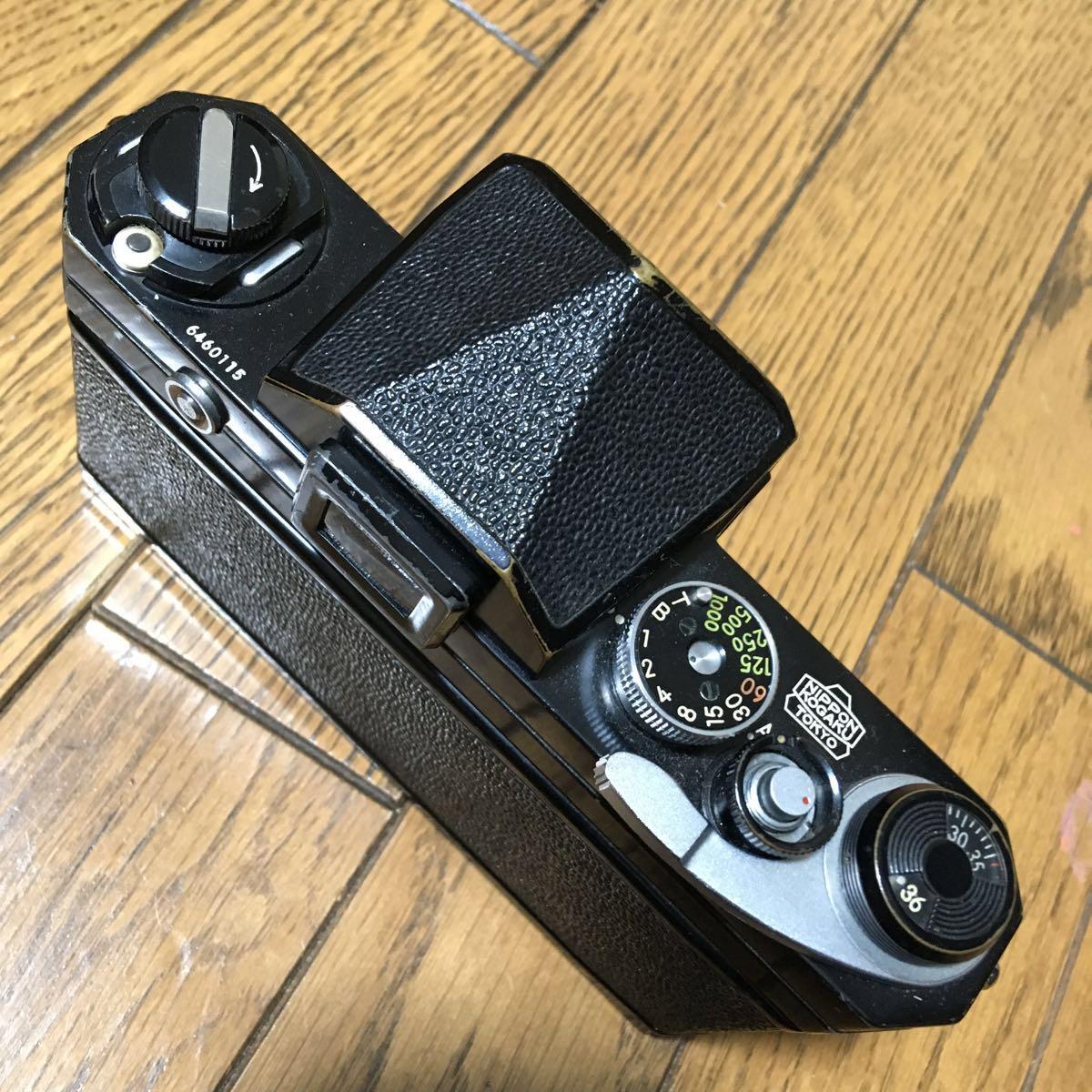 Nikon F アイレベル ブラック ボディ 646万台 前期型 動作確認済みです。_画像4