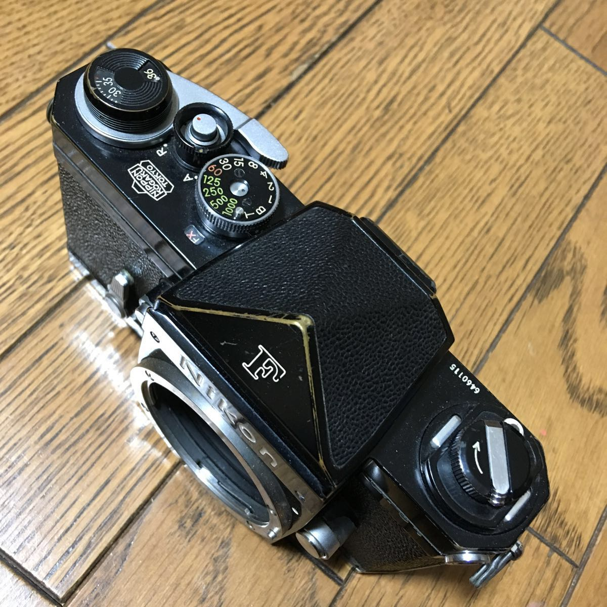 Nikon F アイレベル ブラック ボディ 646万台 前期型 動作確認済みです。_画像3