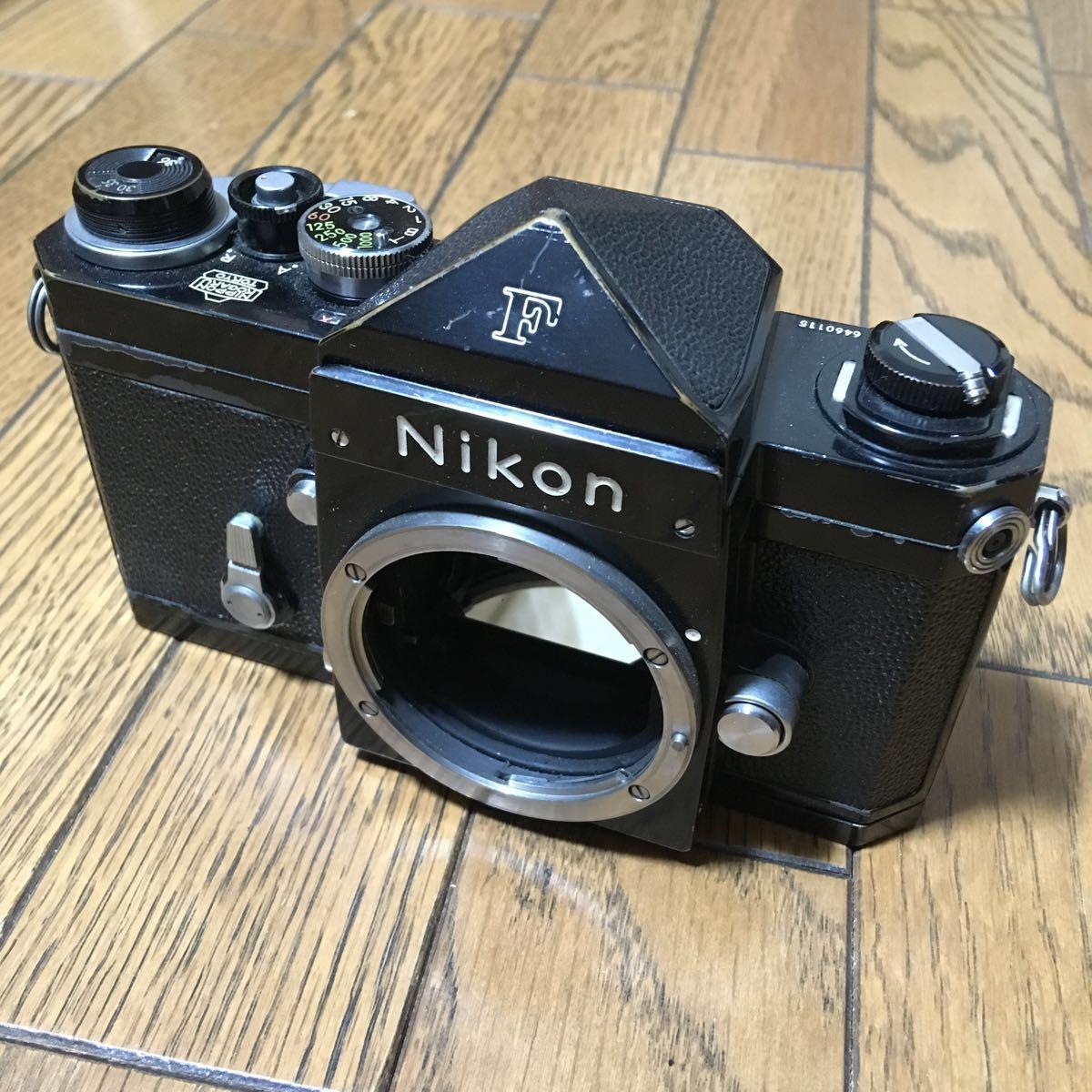 Nikon F アイレベル ブラック ボディ 646万台 前期型 動作確認済みです。_画像2