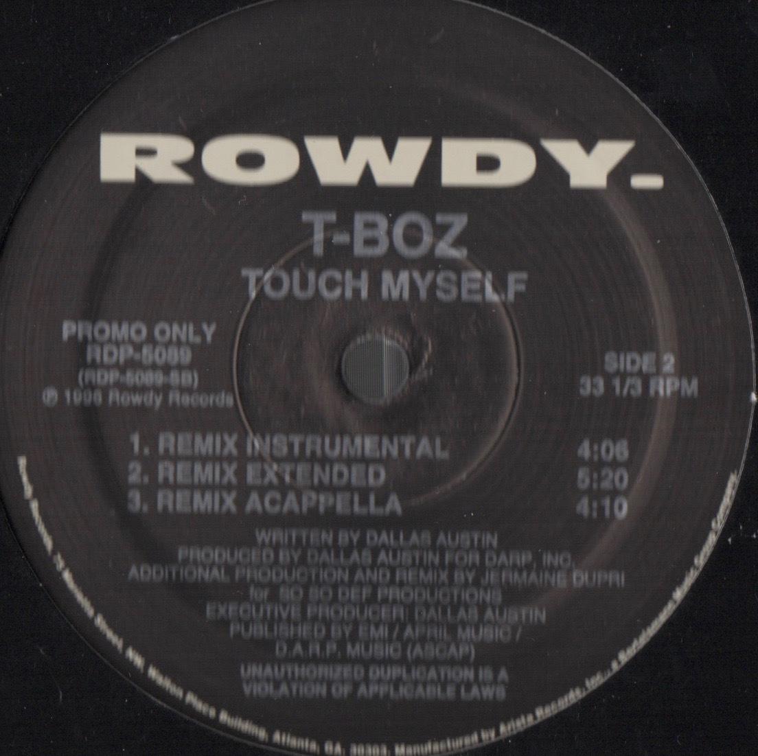 【廃盤12inch】T-Boz / Touch Myself_画像2