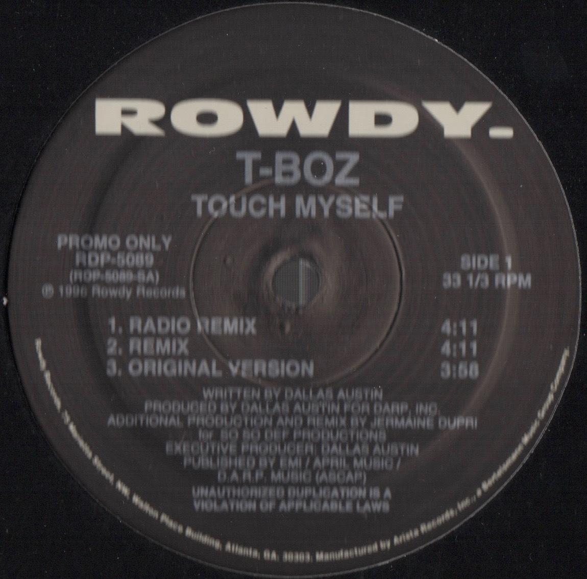 【廃盤12inch】T-Boz / Touch Myself_画像1