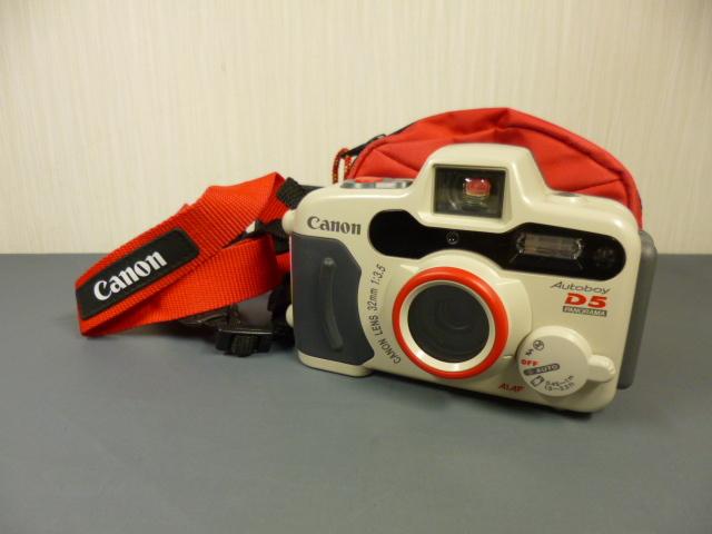 ジャンク CANON キャノン AUTOBOY D5 水中カメラ 防水 カメラケース付