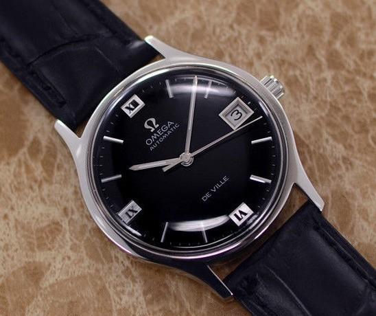 【☆新品仕上げ済み☆】オメガ デビル Cal.1002 ヴィンテージ アンティーク 自動巻き メンズ腕時計 極上品 黒_画像4
