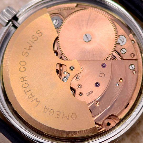 【☆新品仕上げ済み☆】オメガ デビル Cal.1002 ヴィンテージ アンティーク 自動巻き メンズ腕時計 極上品 黒_画像7