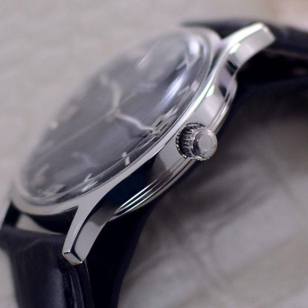 【☆新品仕上げ済み☆】オメガ デビル Cal.1002 ヴィンテージ アンティーク 自動巻き メンズ腕時計 極上品 黒_画像3