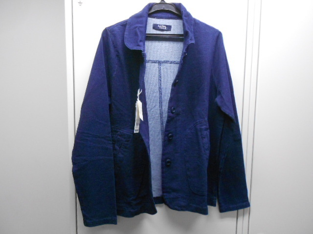 新品◆イーストボーイ /EASTBOY ◆ニットジャケット◆トレーナー生地 11号◆定価8,640円◆インディゴ染め_画像2
