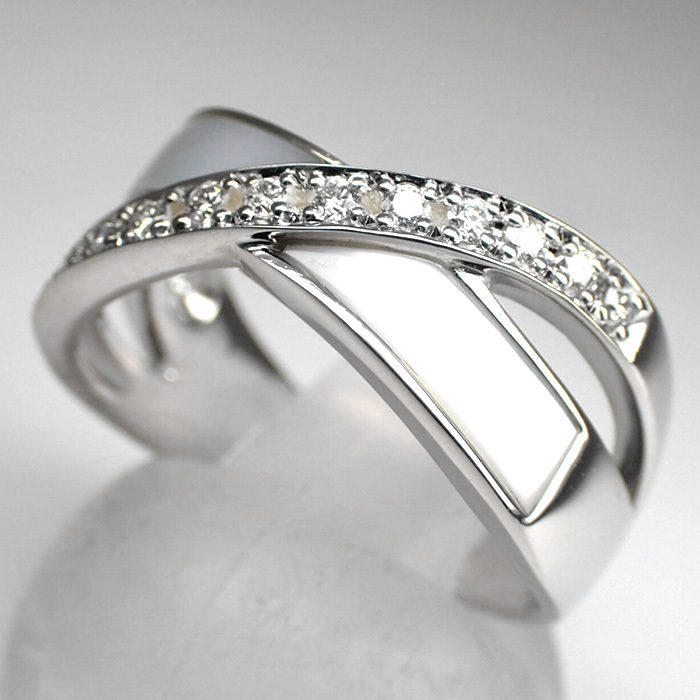 【TASAKI(田崎真珠)】天然ダイヤモンドリング 0.11ct Pt900 9.1g サイズ変更無料 白蝶貝【新品仕上げ済】EC3