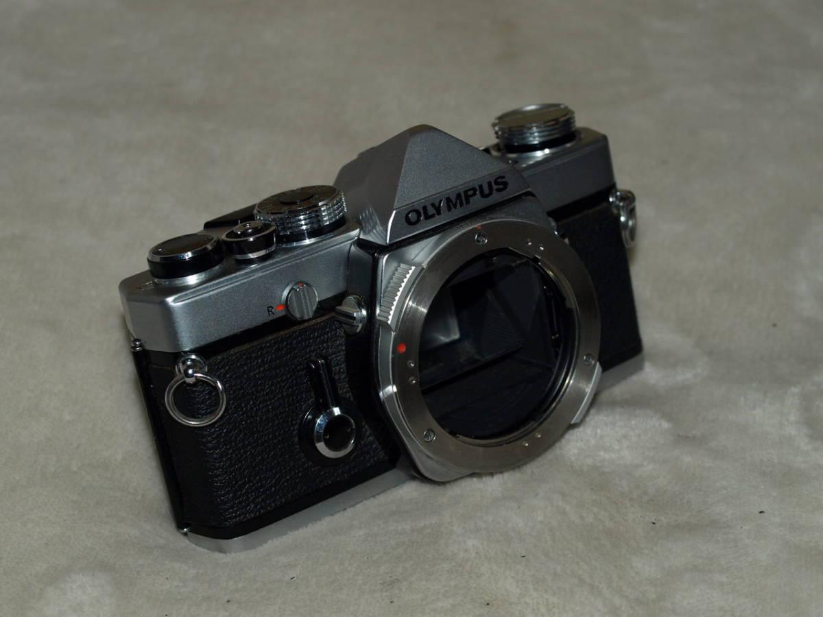 【試写済み】OLYMPUS オリンパス OM-1(初期型)(整備、モルト張替え、ペンタプリズム交換済み) ZUIKO 50mm 1.8(銀枠)_画像3