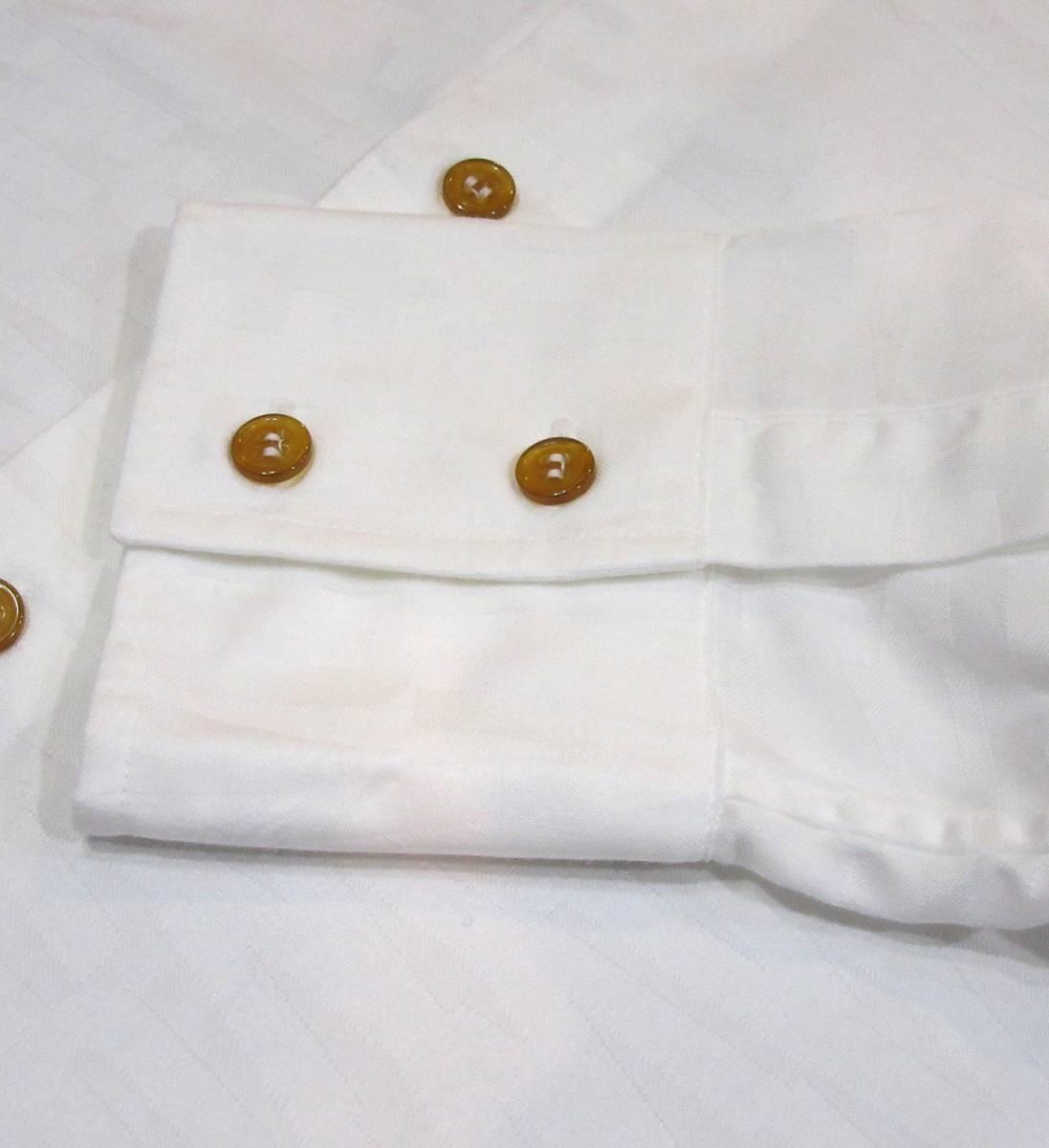 Vivienne Westwood MAN ロゴ総柄 オジークラークシャツ アシンメトリー コットン ブラウス 白 ORB刺繍 オーブ_画像5