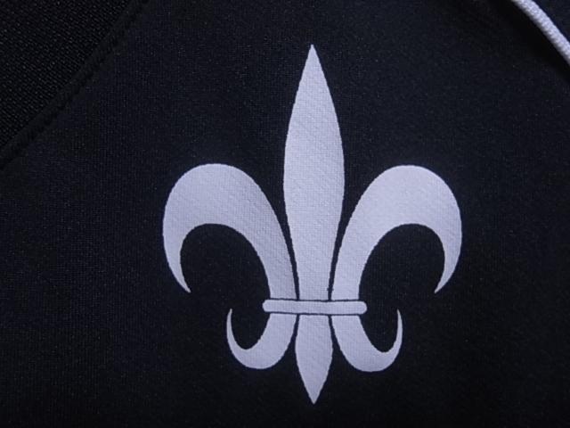 19393★スズキラグビー SUZUKI RUGBY 立教大学 ラグビー部 半袖シャツ 黒青白☆M_画像5