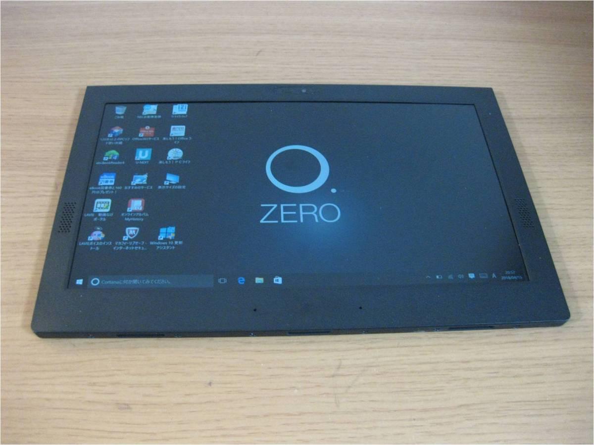 【キーボード付】NEC LAVIE Hybrid ZERO HZ100/DAB PC-HZ100DAB ストームブラック_画像2