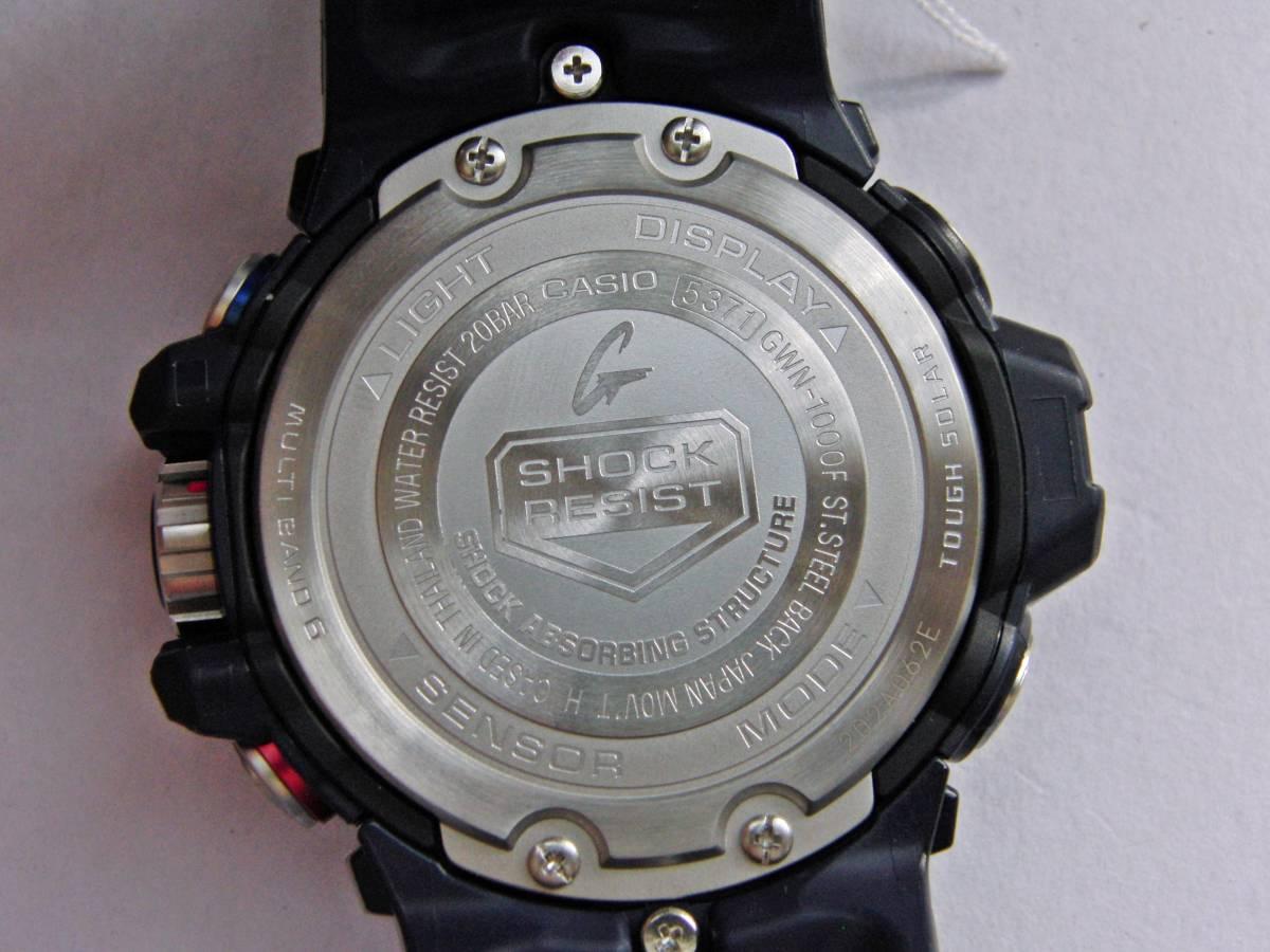新品 展示品 カシオ Gショック GULFMASTER Triple Sensor GWN-1000F-2AJF ガルフマスター 気圧/ 高度・方位・温度計測機能 ソーラー電波_画像8