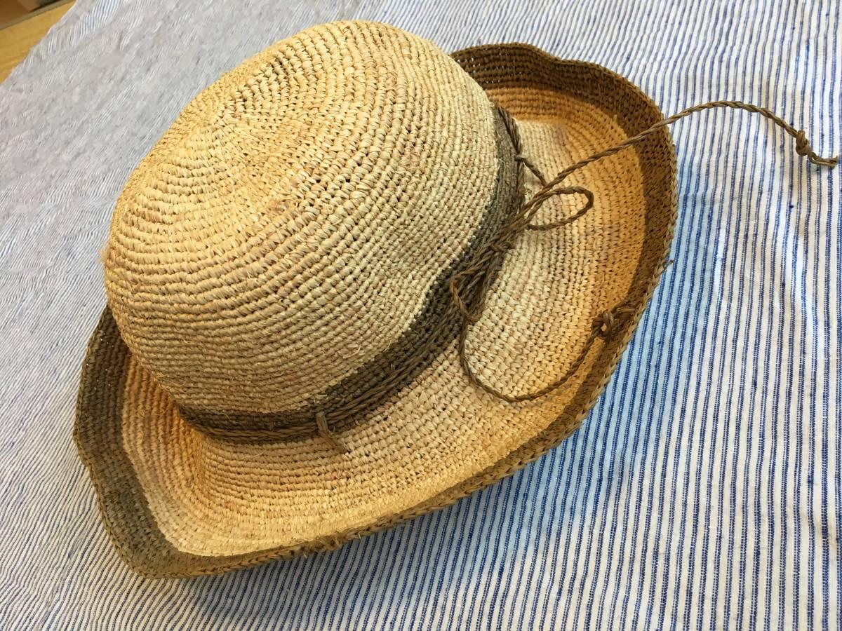 無印 ラフィア たためるキャペリン 帽子 ☆ ストローハット リネン ワンピース スカート