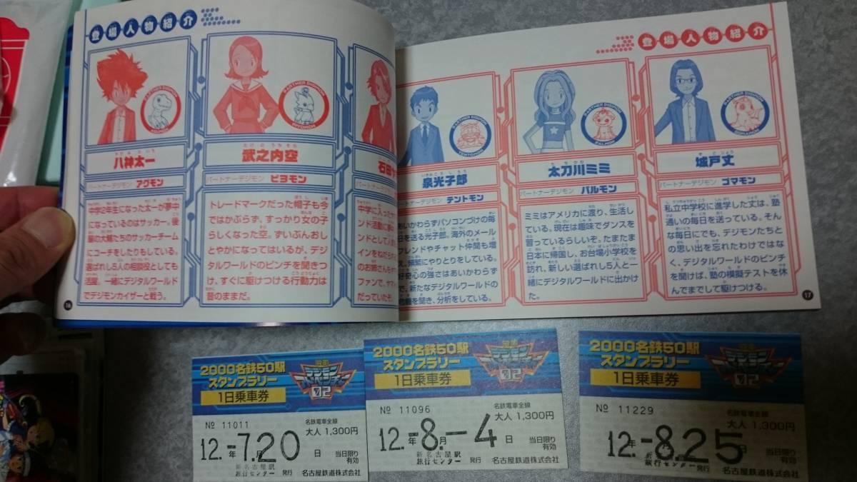 デジモンアドベンチャー02 2000名駅50駅スタンプラリー 記念メダル カード特典付_画像4