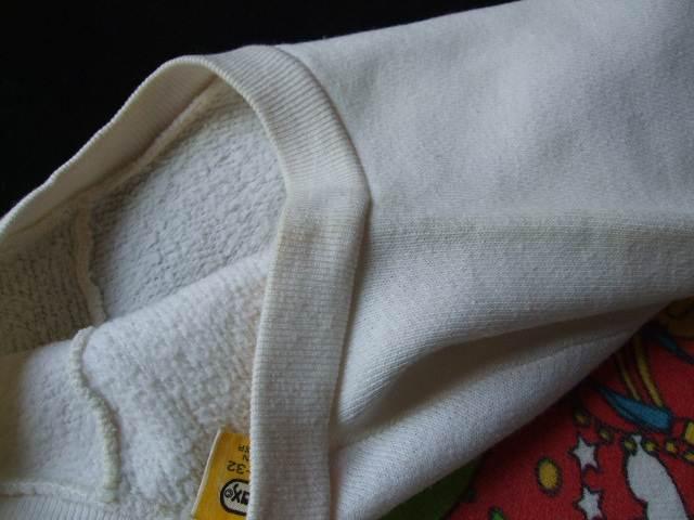 1960s Vintage / Peter Max / PISCES うお座 染み込みプリント スエットシャツ 難あり ビンテージ中古品 ピーターマックス_生地の黄ばみ