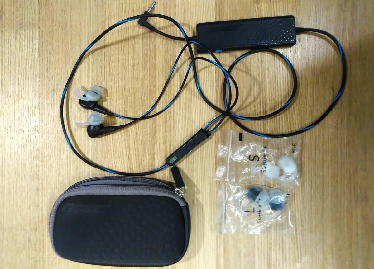 【中古品1円】 Bose イヤホン Quiet Comfort QC20ノイズキャンセリング インイヤータイプ ブラック USB 消音性能 高音質 送料無料
