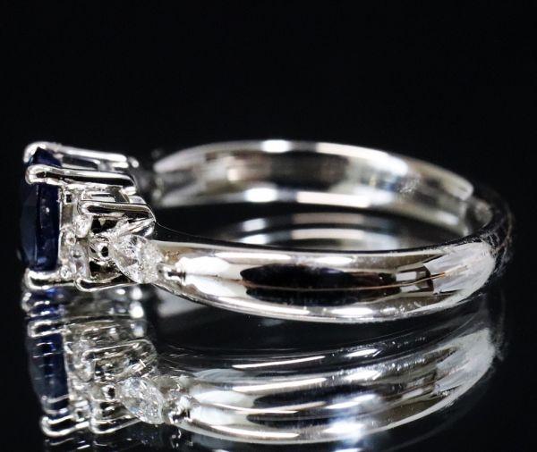Pt900 プラチナ 天然サファイア 0.90ct 天然ダイヤモンド0.25ct リング ■サイズ10.5号 指輪 サファイヤ_画像7