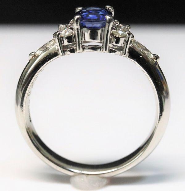 Pt900 プラチナ 天然サファイア 0.90ct 天然ダイヤモンド0.25ct リング ■サイズ10.5号 指輪 サファイヤ_画像8
