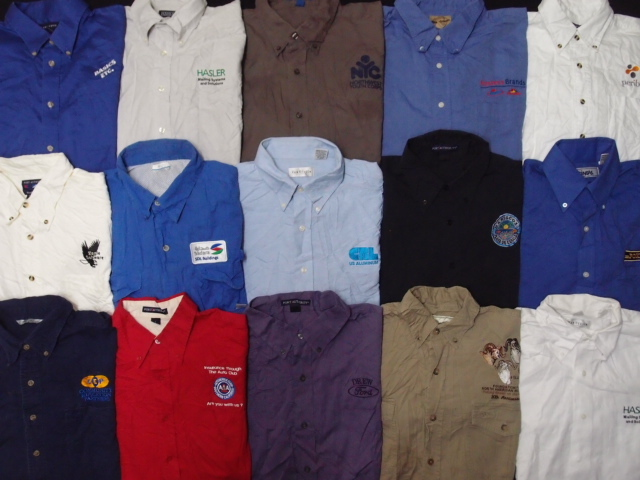 ◆古着卸USA■スタッフシャツ15枚セット★企業ワンポイント★★★サイズMIX 長袖  アメリカ直輸入 訳