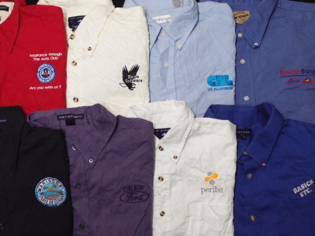 ◆古着卸USA■スタッフシャツ15枚セット★企業ワンポイント★★★サイズMIX 長袖  アメリカ直輸入 訳_画像2