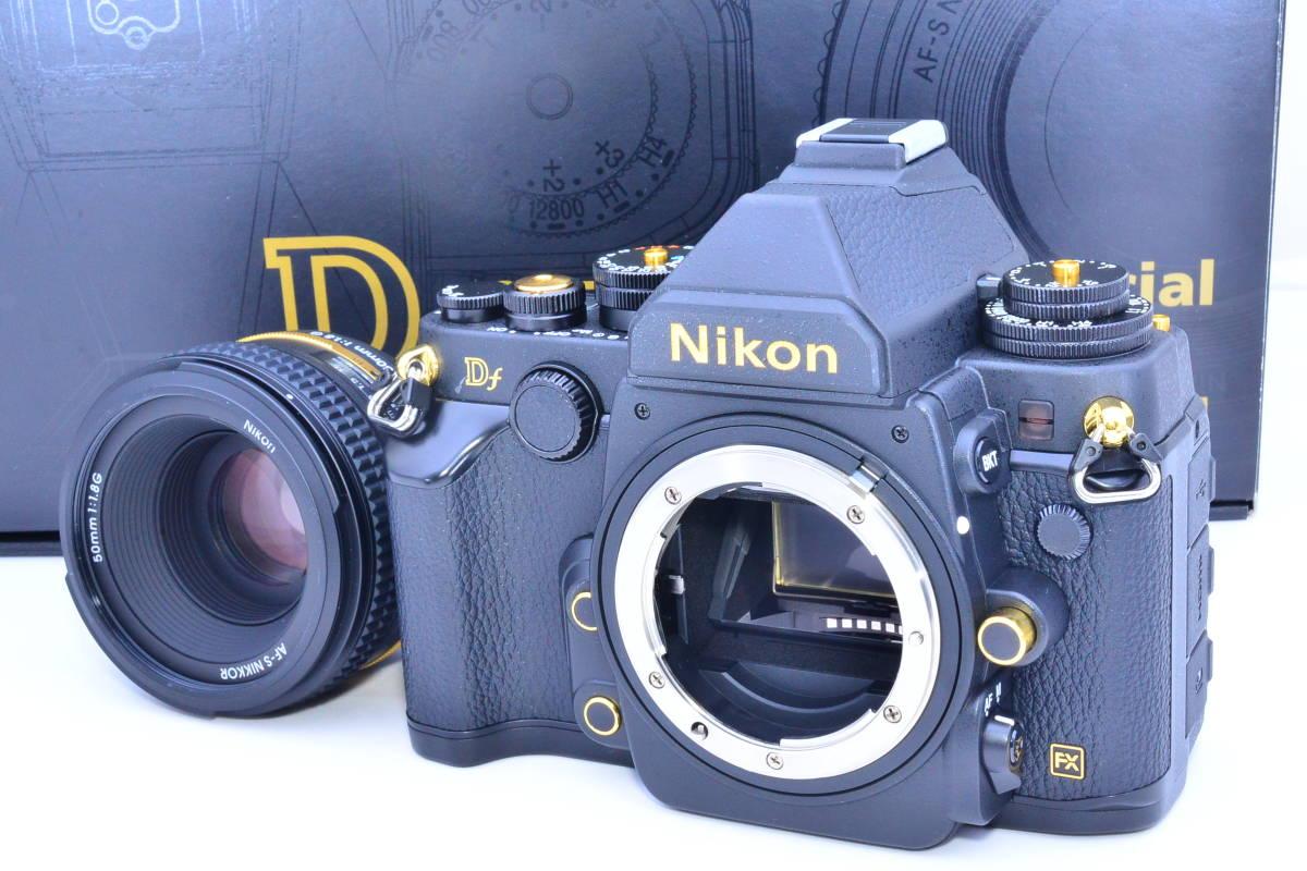 ★S数13のほぼ新品★Nikon ニコン Df 50mm f1.8G Special Gold Edition 元箱・付属品完備 ★新品購入後防湿庫でコレクションされていた逸品_画像2
