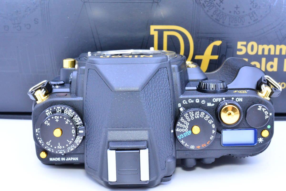★S数13のほぼ新品★Nikon ニコン Df 50mm f1.8G Special Gold Edition 元箱・付属品完備 ★新品購入後防湿庫でコレクションされていた逸品_画像5