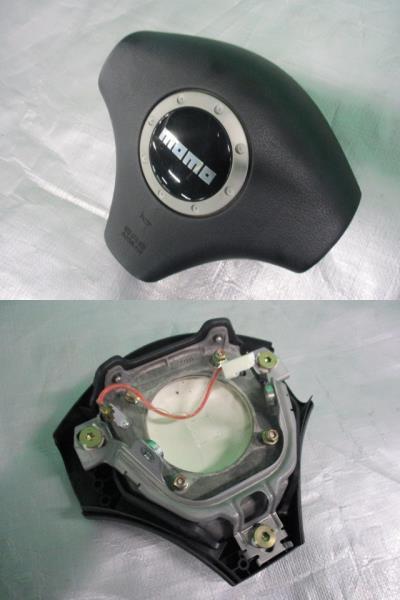 ミラ アヴィ L250S L260S 純正 モモ MOMO ウッド コンビ ステアリング ハンドル_画像2