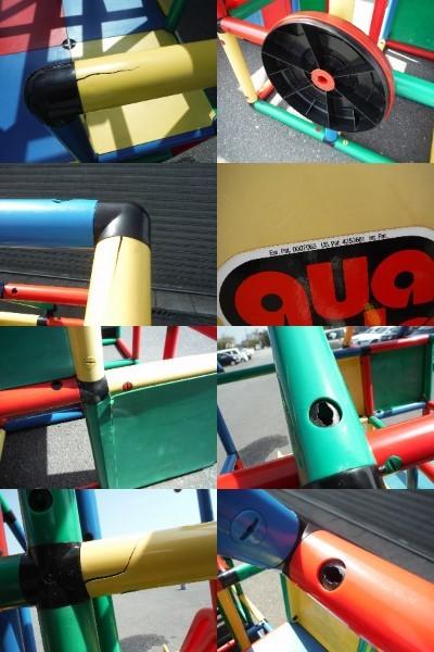 QUADRO 大型システム遊具 quadro ドイツ遊具メーカー 中古品 引き取り限定_チューブ管切れ、ヒビ有ります。