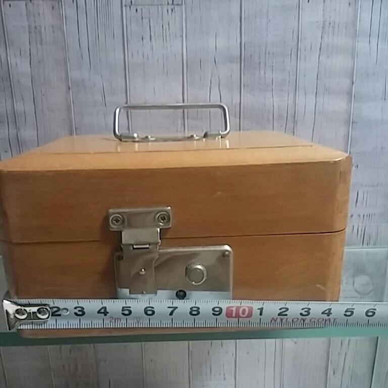 昭和レトロ 木製 判子ケース 木箱 ボックス ゴム印付 小物入れ 事務用品 アンティーク 古道具_画像3