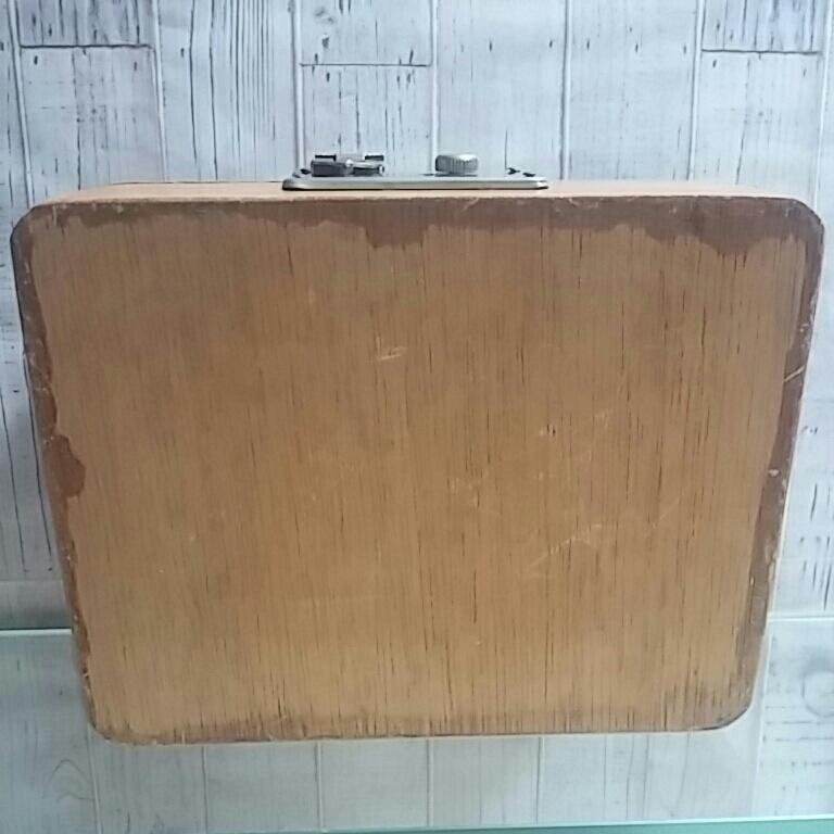 昭和レトロ 木製 判子ケース 木箱 ボックス ゴム印付 小物入れ 事務用品 アンティーク 古道具_画像9