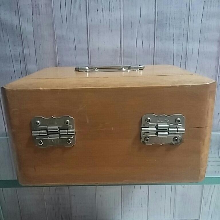 昭和レトロ 木製 判子ケース 木箱 ボックス ゴム印付 小物入れ 事務用品 アンティーク 古道具_画像5