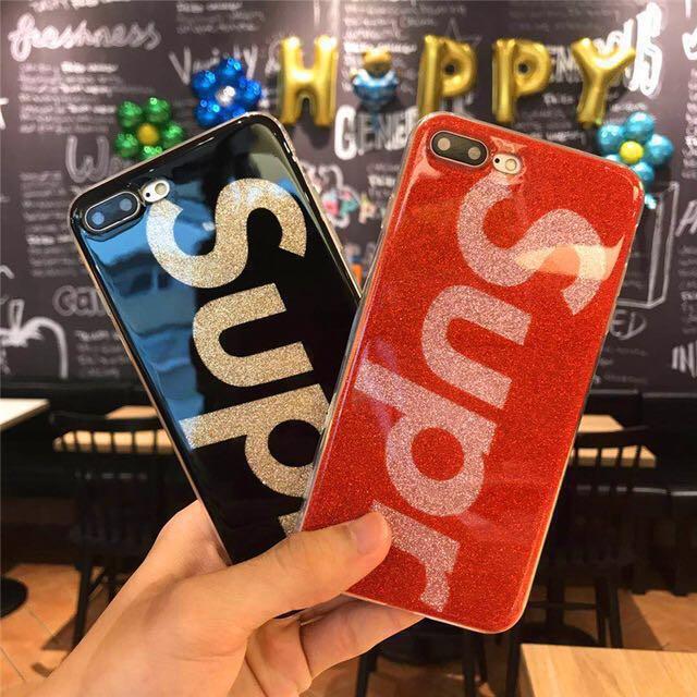【お得な2個セット】iPhone X シリコン ケース SUP パロディ ロゴ シュプリーム supreme 好きな方 ☆☆