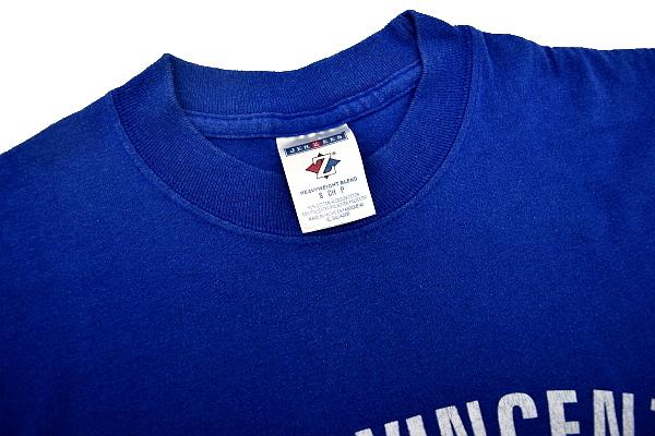 S4430★送料無料★ペンシルベニア州 SAINT VINCENT COLLEGE セントヴィンセント大学★ラグビー部 ブルー青色 半袖 カレッジTシャツ S_画像2