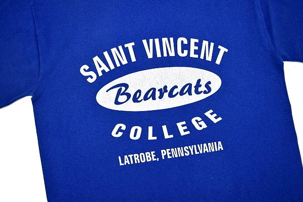 S4430★送料無料★ペンシルベニア州 SAINT VINCENT COLLEGE セントヴィンセント大学★ラグビー部 ブルー青色 半袖 カレッジTシャツ S_画像3