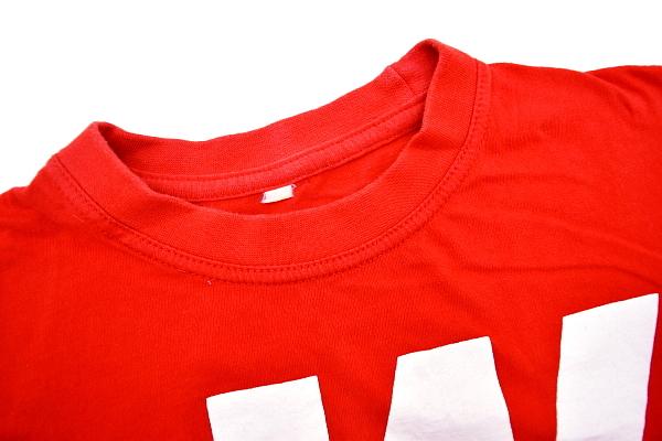 S4464★送料無料★WKO 世界組手連盟 2013年全日本ジュニア選手権★空手道 日本 大阪代表 両面プリント レッド赤色 半袖Tシャツ_画像3