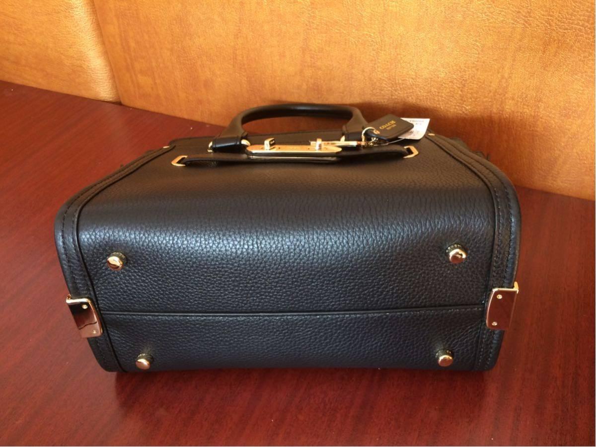 COACH コーチスワッガー ハンドバッグ 2WAYショルダーバッグ ブラックレザー 女レディース鞄新品 黒_画像10