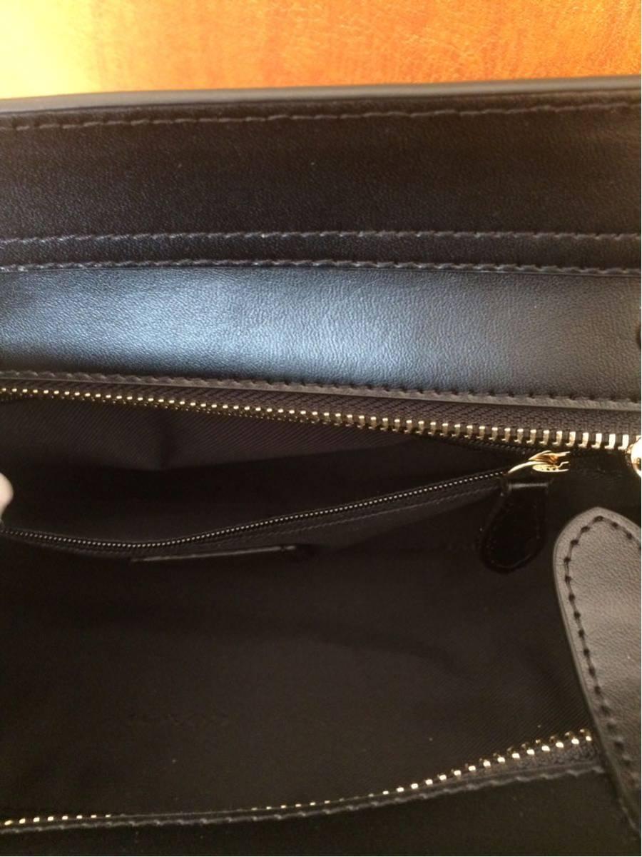 COACH コーチスワッガー ハンドバッグ 2WAYショルダーバッグ ブラックレザー 女レディース鞄新品 黒_画像7