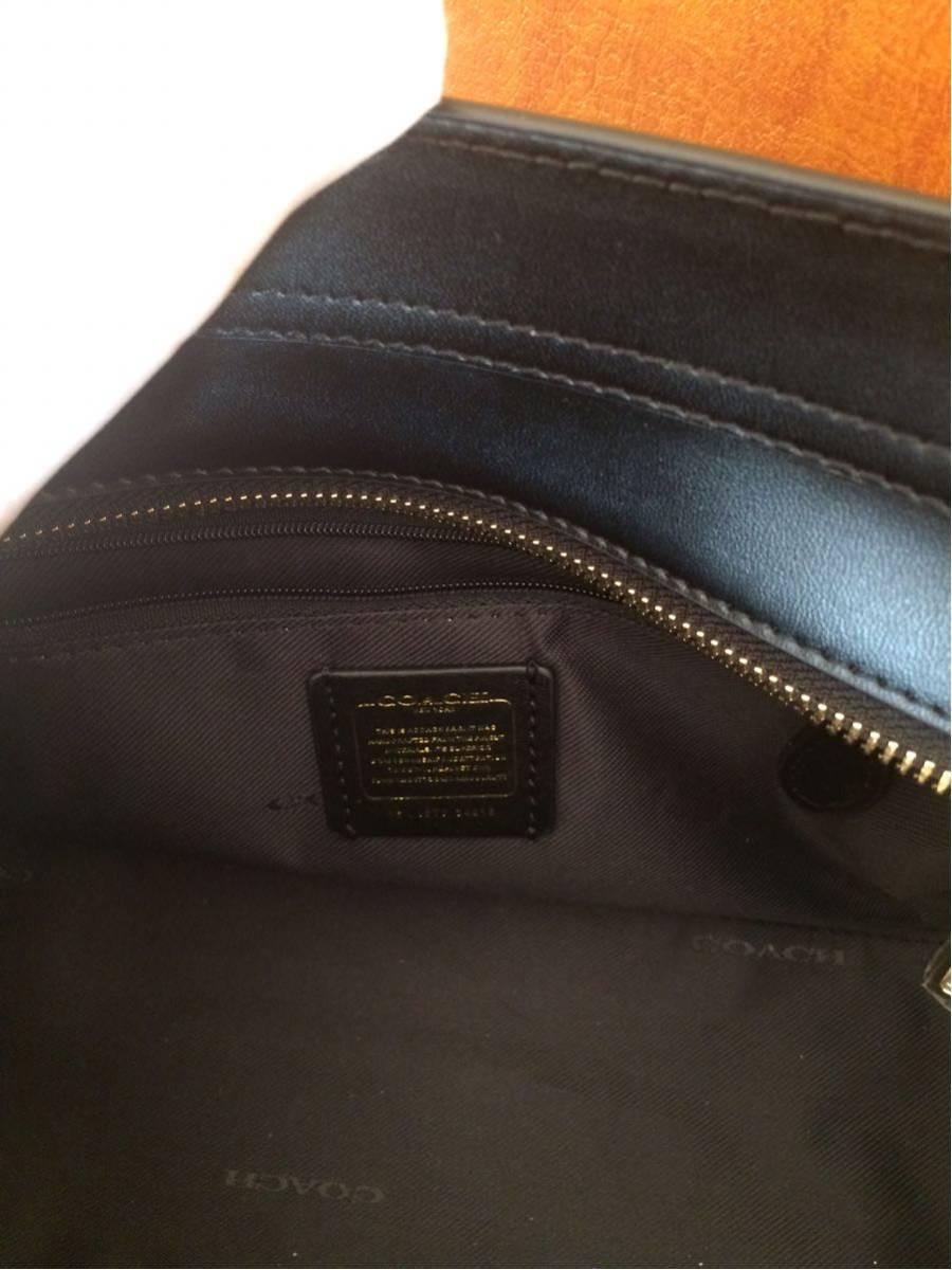 COACH コーチスワッガー ハンドバッグ 2WAYショルダーバッグ ブラックレザー 女レディース鞄新品 黒_画像8