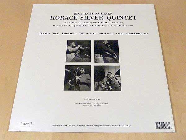 ホレス・シルヴァー6 Pieces Of Silver限定見開きジャケ仕様HQ180g重量盤未開封LP The Horace Silver Quintet Hank Mobley Donald Byrd_画像2