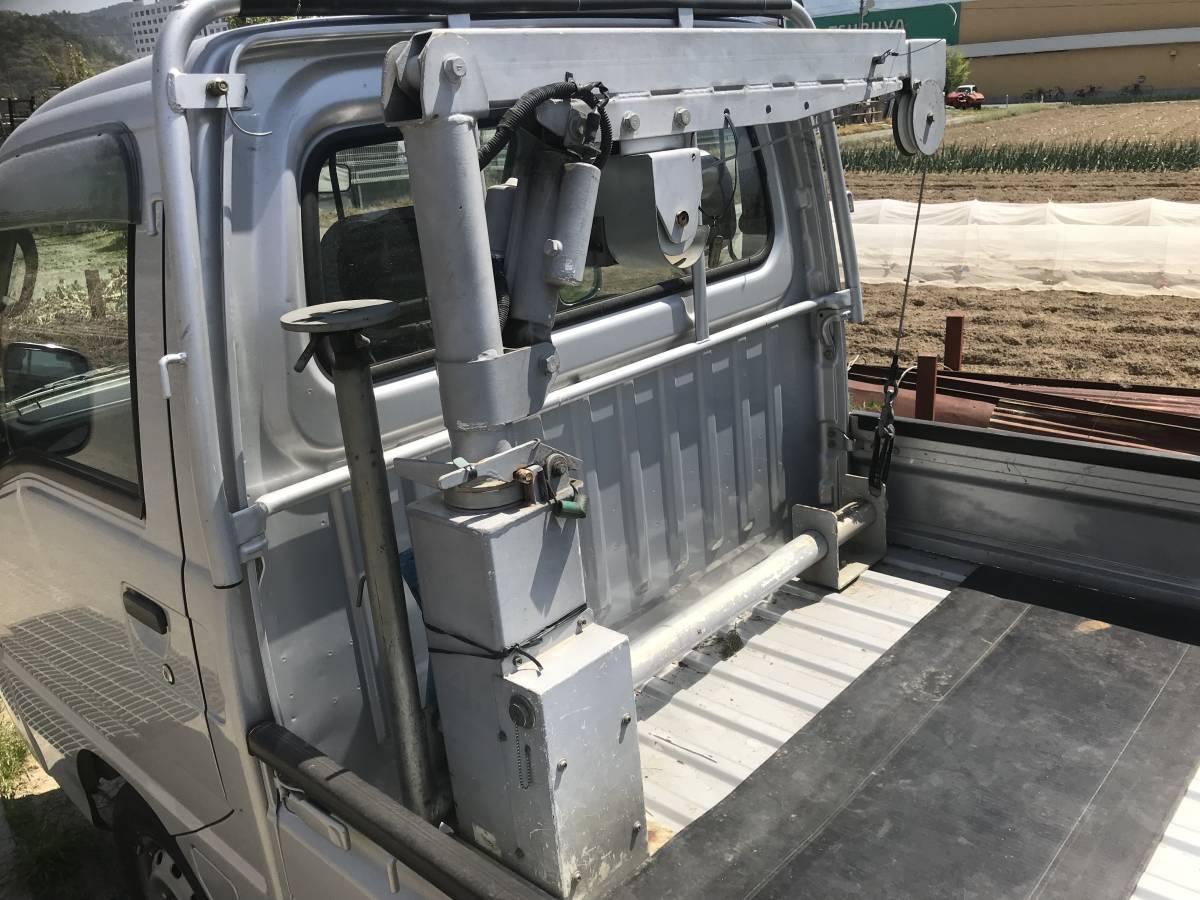 電動 ミニクレーン 軽トラックなどに 320kg 12V リモコン付き_画像3