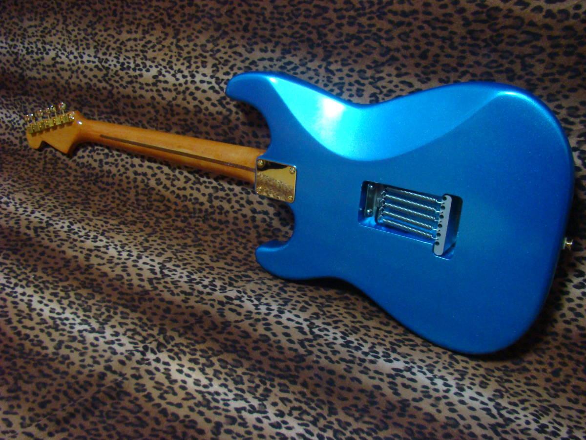 REAL SUPER CUSTOM!◆no Fender stratocaster 青/金 ストラトキャスター ストラト 7way SLOOP Neck!Lindy ラッカー 赤茶げNeck So Cool!_画像4